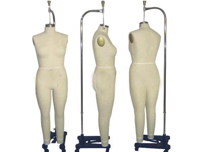 Professional Plus Size Female Full Body Dress Form Size: 18 MM ...