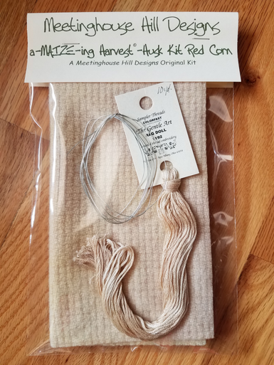 Hand-dyed wool, threads and wire for Husks.