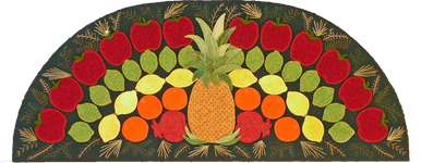 """Finishing at 30"""" wide by 12"""" tall and inspired by the apple and fruit """"fans"""" displayed at Colonial Williamsburg."""