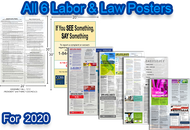 Mega Poster Pack: 2020 California & Federal Labor Posters & Compliance Posters - 6 posters total