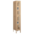Two Tier Locker, Tan Metal, 1 Wide