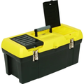 "Stanley® 24"" Heavy-Duty Tool Box, High-Impact Resistant Plastic, Metal Latches"