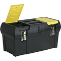 "Stanley® 19"" Heavy-Duty Tool Box, High-Impact Resistant Plastic, Metal Latches"