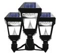 LED Three-Light Solar Post-Top Lantern