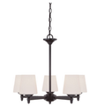 Five-Light Chandelier - Oil-Rubbed Bronze - Opal Glass