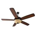 "52"" Dual-Mount Ceiling Fan Oiled Bronze Bowl Light Kit"