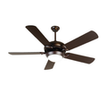 "52"" Dual-Mount Ceiling Fan - Oiled Bronze - Contemporary Light Kit"