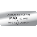 100 WATT CAUTION LABEL