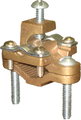 1/2 TO 1 DOUBLE ATTACHMENT ARMORED GROUND CLAMP BRONZE