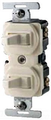 COOPER 15A COMBINATION SINGLE/3-WAY POLE SWITCHES IVORY 275V-BOX