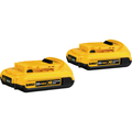 DeWalt 20 Volt MAX Compact XR Lithium-Ion Battery Package Of 2