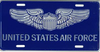 License Plate, United States Air Force