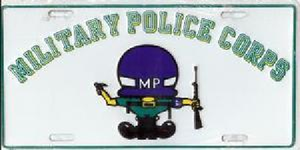 License Plate, Military Police Corps
