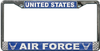 License Plate Frame, United States Air Force