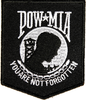 Iron On Patch, POW*MIA