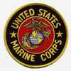 Iron On Patch, USMC (Round)