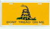 License Plate, Don't Tread On Me