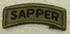 Multicam Patch, Sapper Tab