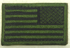American Flag Patch, Reverse OD Subdued