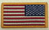 American Flag Patch, Reverse US Flag