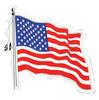 Auto Magnet, American Flag Die Cut