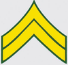 Decal, Army E-4 Corporal