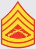 Decal, USMC E-7 GSGT