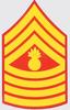 Decal, USMC E-9 Master GSGT