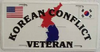License Plate, Korean Conflict Veteran