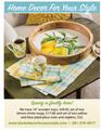 """16"""" Lemon Wooden Tray, Mug and Placemats Display"""