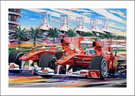 Ferrari 1 & 2 at Bahrain