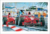 Monaco Ferrari 1&2 Poster