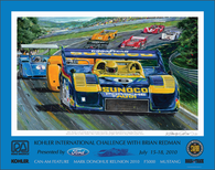 Road America Event Poster, 2010 (Donohue)