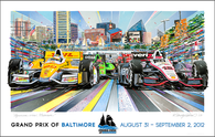 Baltimore Grand Prix, 2012. Official Poster