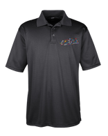 Embroidered  Performance Polo-Black