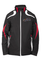 Embroidered Jacket- Black with red & white trim
