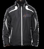 Embroidered Jacket- Black w/Gray & white trim