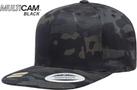 Black Multicam Classic SnapBack Cap