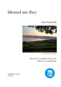 Blessed Are They (SATB/Solo)- Barnwell - PDF