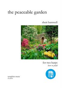 The Peaceable Garden, for Harp Duo, by Rhett Barnwell - PDF