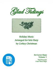 Glad Tidings Vol 1 for lever harp by Corkey Christman  - PDF Download