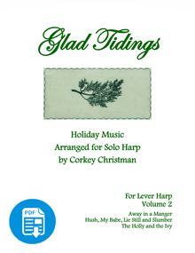 Glad Tidings Vol 2 for lever harp by Corkey Christman  - PDF Download