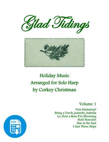 Glad Tidings Vol 1 for Pedal Harp by Corkey Christman  - PDF Download