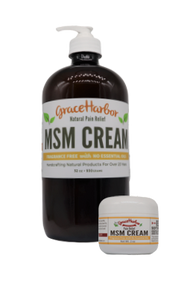 MSM Cream, Fragrance-Free, 32 oz. Glass Bottle  Plus Free 1.8 oz. Plastic Jar