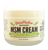 Three Travel Size MSM Cream, 1.8-oz jars