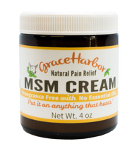 Value Pack - Fragrance Free MSM Cream, Three 4 oz. Glass Jars