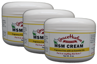 Value Pack - Fragrance-Free MSM Cream, Three 8 oz. Plastic Jars