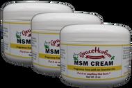 Value Pack - Fragrance-Free MSM Cream, Three 8 oz. Plastic Jars