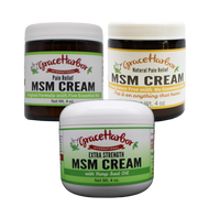 Variety Pack MSM Cream, 4 oz. Jars