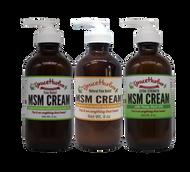 Variety Pack - MSM Cream, 8 oz. Glass Bottles